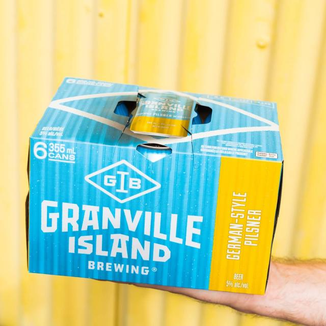 German in style, born in BC 🍻  Our modern German-Style Pilsner maximizes flavour without compromising it's drinkability using Tettnanger hops.  Check it out with free delivery in the lower mainland at orders.gib.ca or in your local liquor store.  #gib #granvillebeer #granvilleisland #vancouver #craftbeer #localcraft #local #freedelivery