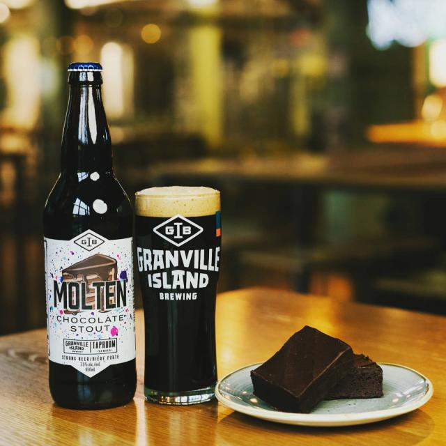 Molten Chocolate Stout pairs amazing with: - A holiday movie on a cold evening - Another bottle of Molten Chocolate Stout  - Someone special in front of a warm fire - Absolutely any main course......ever 😆  Available in select liquor stores or for direct delivery from orders.gib.ca  #gib #craftbeer #chocolate #localcraft #bc #vancouver #beer #freedelivery