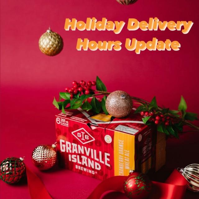 Holiday hours updated for our same-day delivery zones: For the holiday season, our order cut off time is 4pm (changed from 5pm) in order to better service all of our consumers. Orders received after 4pm will be out for next day delivery. This is for all orders in our same-day zones only: Vancouver, North and West Van, Burnaby, Richmond, New West.   Our team of drivers are working tirelessly between 12-8pm 7 days a week to ensure your beer is delivered fresh and cold. Our delivery estimates on your e-receipt may be a bit wonky but don't hesitate to DM us your order number if you require clarity. #vancouverbeerdelivery #yvrctaftbeer #gibdelivery
