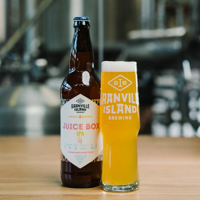 A Juice Box for grown-ups, makes sense to us!  Packard to the brim with flavour, this juicy, hazy treat has as been a fan favorite in our taproom and in the Small Batch program since it's release!  Pick up yours in specialty liquor stores (BC only) or have it direct delivered in Vancouver from orders.gib.ca!  #granvillebeer #localcraft #suportlocal #freedelivery #gib #vancouver #vancity #craftbeer