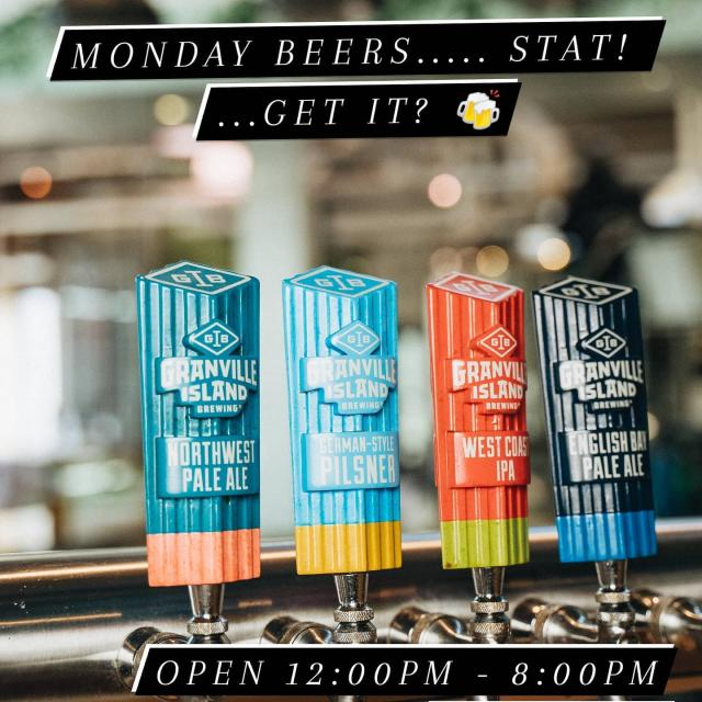 Our family's excited to welcome yours!  Enjoy a day off with some fresh beer right from Granville Island and grab a bite while you're at it!   #gib #familyday #localcraft #localbusiness #beer #craftbeer #bc #vancouver #vancity #statday