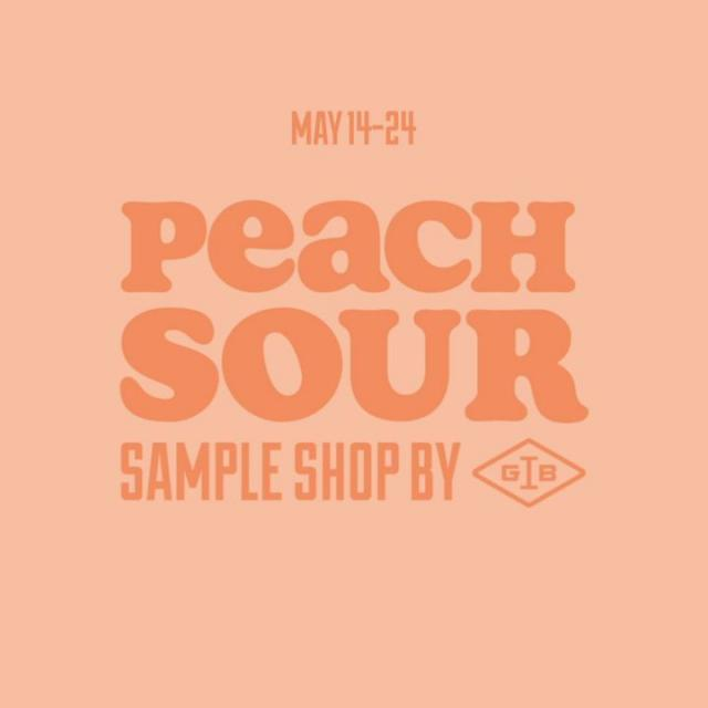 Still wondering how we took our brew and packed it full of peach flavour? Sounds like you'll need to visit our Peach Sour Sample Shop coming through i