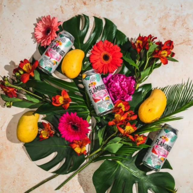 Even we can't believe this vibrant magenta strong beer exists at times. But not only does it exist, our new Flamingo Mango Hibiscus Sour is available
