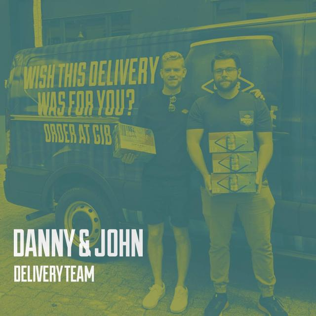 Hey folks, have we introduced you to Danny and John? They look familiar don't they? Well our delicious craft beer can't move itself and these two play