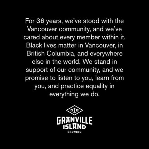 For 36 years, we've stood with the Vancouver community, and we've cared about every member within it. Black lives matter in Vancouver, in British Columbia, and everywhere else in the world. We stand in support of our community, and we promise to listen to you, learn from you, and practice equality in everything we do.