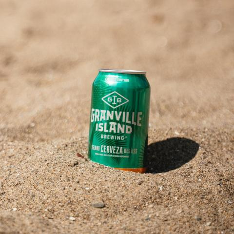 Our Island Cerveza is giving us those summer vibes. Stock up for the long weekend and order online for delivery. .  The brewery is open 12pm - 8pm everyday for curbside pickup and delivery to Vancouver addresses over the weekend.  Link in bio to order online! .  #granvilleislandbrewing #granvilleisland #maylongweekend #islandcerveza